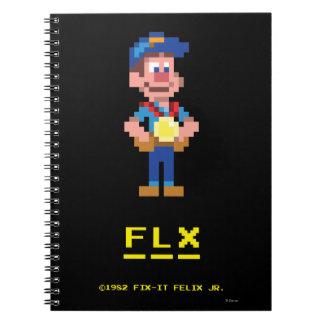 Fix-It Felix Jr: FLX Spiral Notebook