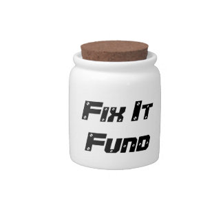 Fix It Fund Spare Change Bank Candy Dishes
