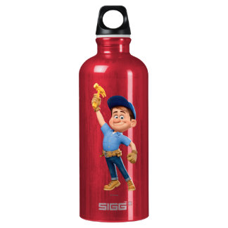 Fix-It Jr Holding Hammer in the Air Aluminum Water Bottle