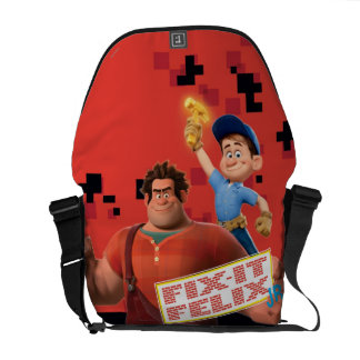Fix-It Jr Holding Hammer in the Air Courier Bag