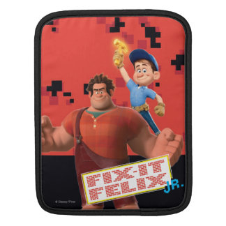 Fix-It Jr Holding Hammer in the Air iPad Sleeve