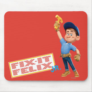 Fix-It Jr Holding Hammer in the Air Mouse Pad