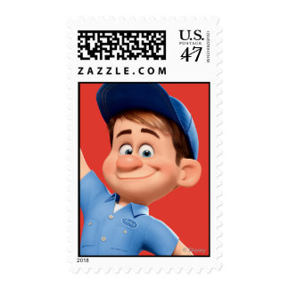 Fix-It Jr Holding Hammer in the Air Postage