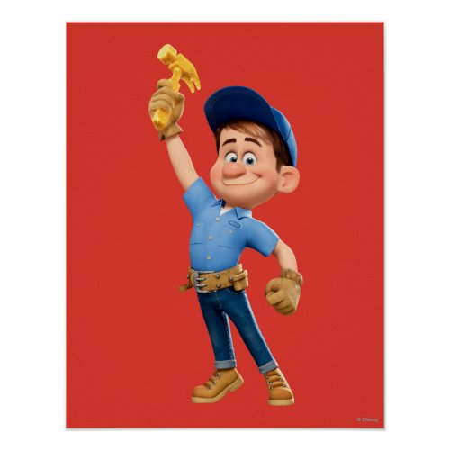 Fix_It Jr Holding Hammer in the Air Poster