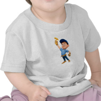 Fix-It Jr Holding Hammer in the Air Shirt