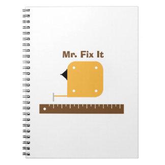 Fix It Spiral Note Books