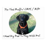 Fix That Ruffin CRPS RSD - Dad BLACK Text Post Cards