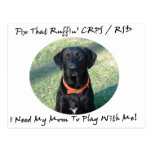 Fix That Ruffin CRPS RSD - Mom Black Text Post Card