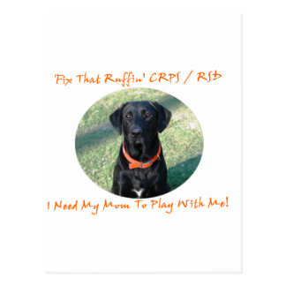 Fix That Ruffin CRPS RSD - Mom ORANGE Text Postcard