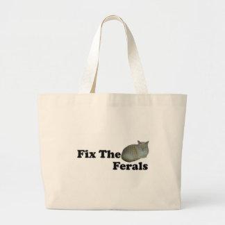 Fix The Ferals Large Tote Bag