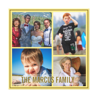 Fix Yellow Border Custom Family Photo Collage Gallery Wrap Canvas