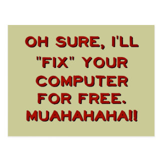 Fix Your Computer For Free? Postcard