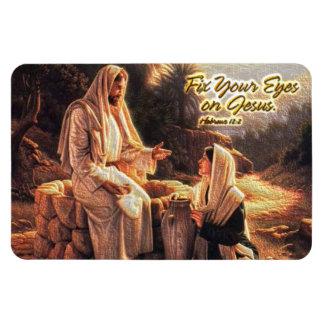 Fix Your Eyes on Jesus 1 Premium Magnet