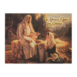 Fix Your Eyes on Jesus 1 Wood Print