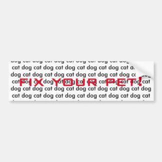 Fix your pet! bumper sticker