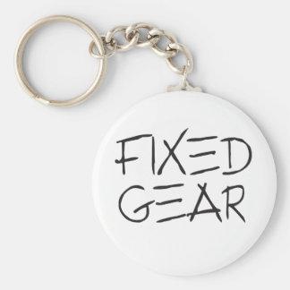 Fixed Gear Basic Round Button Keychain