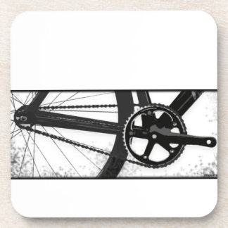 Fixed Gear Bicycle Drink Coaster