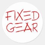 Fixed Gear Classic Round Sticker
