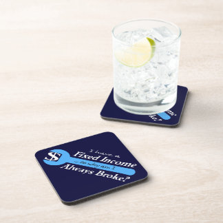 Fixed Income/Always Broke Coasters - Lt. Blue