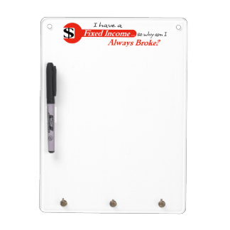 Fixed Income/Always Broke Dry Erase Board - Red