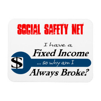 Fixed Income/Always Broke Magnet - Blue