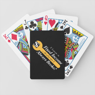 Fixed Income/Always Broke Playing Cards - Gold