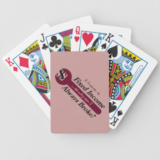 Fixed Income/Always Broke Playing Cards - Plum