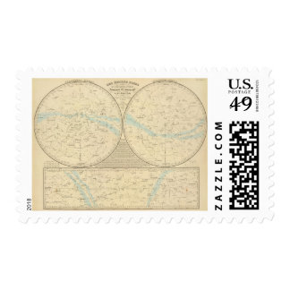 Fixed Stars map Postage
