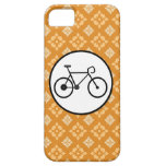 Fixie Bike Fixed Gear Bicycle on Orange Pattern iPhone 5 Covers