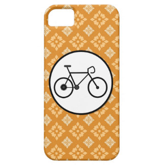 Fixie Bike Fixed Gear Bicycle on Orange Pattern iPhone SE/5/5s Case