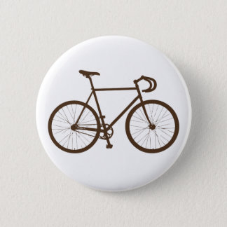 Fixie (Brown) Pinback Button