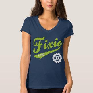 Fixie Girl, Bike design lime/white Shirt