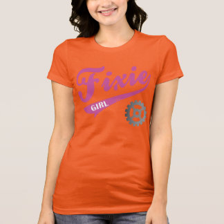 Fixie Girl, Bike design Pink/gray Shirt