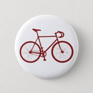 Fixie (Red) Pinback Button