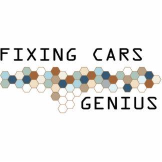 Fixing Cars Genius Photo Sculpture Ornament