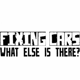 Fixing Cars What Else Is There? Photo Sculpture Ornament