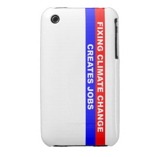 Fixing Climate Change Creates Jobs iPhone 3 Case