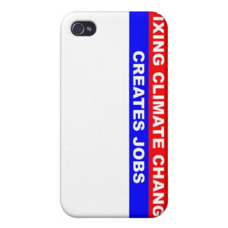 Fixing Climate Change Creates Jobs iPhone 4 Cover