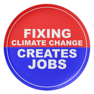 Fixing Climate Change Creates Jobs Plate