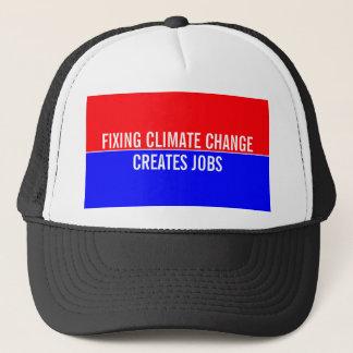 Fixing Climate Change Creates Jobs Trucker Hat