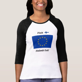 Fixit - Finlands Exit! Black long sleeves F T-Shirt