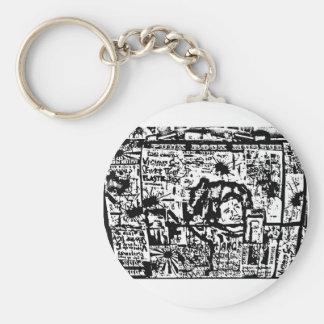 fixx tribute lunchbox print by Sludge Basic Round Button Keychain