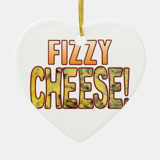 Fizzy Blue Cheese Ceramic Ornament
