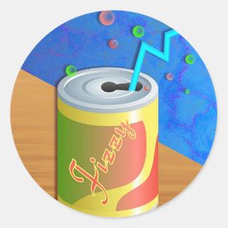 Fizzy Soda Drink Round Stickers