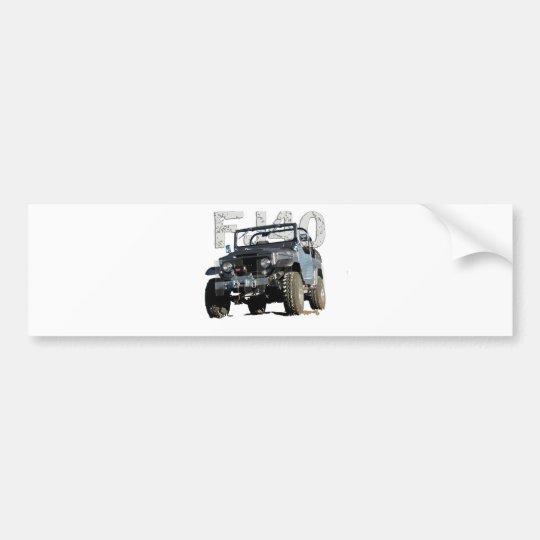 FJ40 Landcruiser Apparel Bumper Sticker