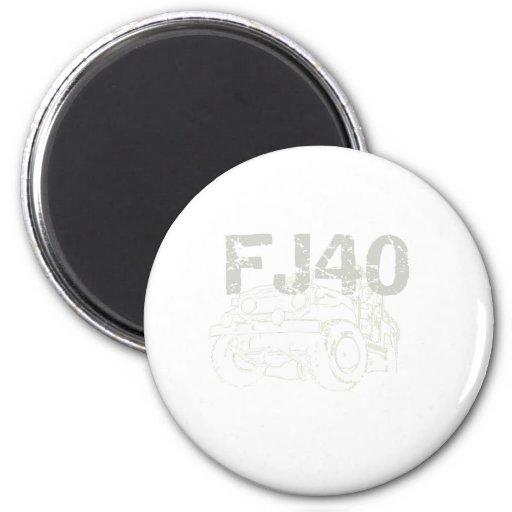 FJ40 Roman's 2 Inch Round Magnet