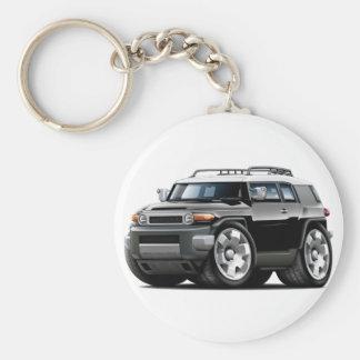 Fj Cruiser Black Car Basic Round Button Keychain