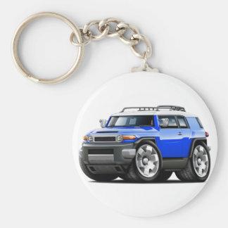 Fj Cruiser Blue Car Basic Round Button Keychain