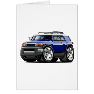 Fj Cruiser Dark Blue Car Card