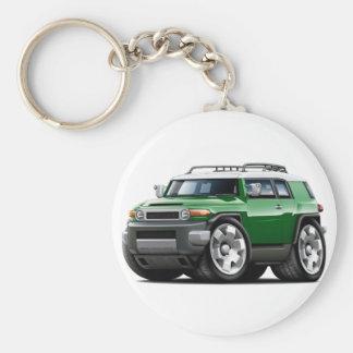 Fj Cruiser Green Car Basic Round Button Keychain